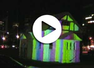 video mapping, 3d building Projection